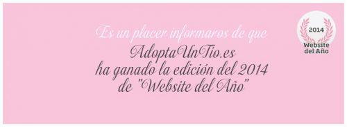 AdoptaUnTio.es gana la edición 2014 de Website del Año