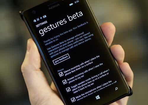 Gestures Beta, herramienta para controlar tu Lumia sin tocarlo