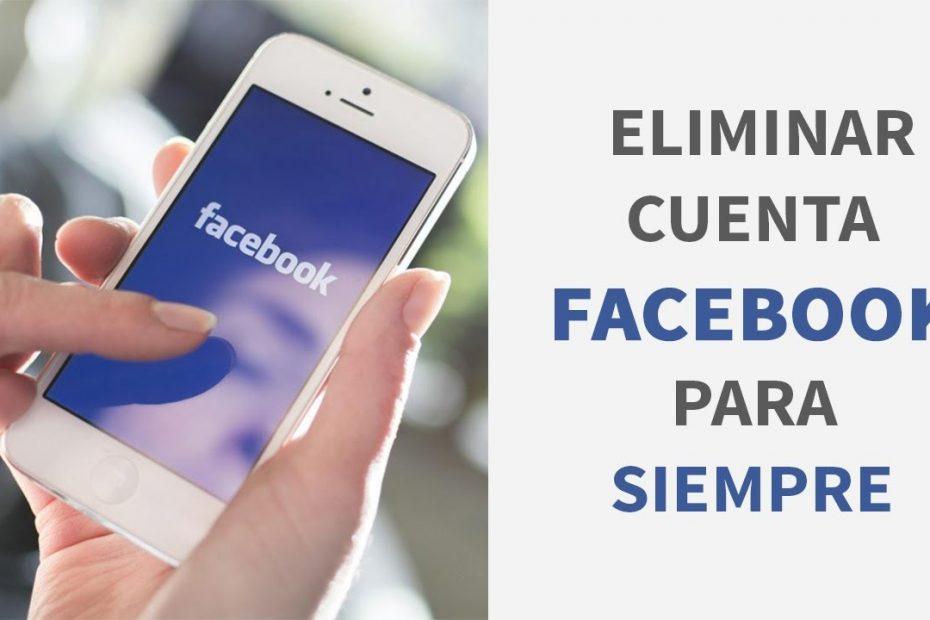 borrar tu cuenta en Facebook