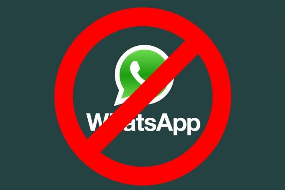 WhatsApp suspendida