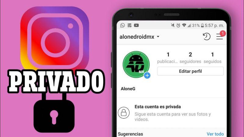 cuenta privada de Instagram