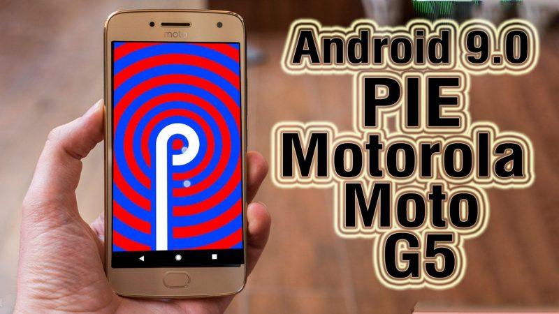 Android Pie en Moto G Plus