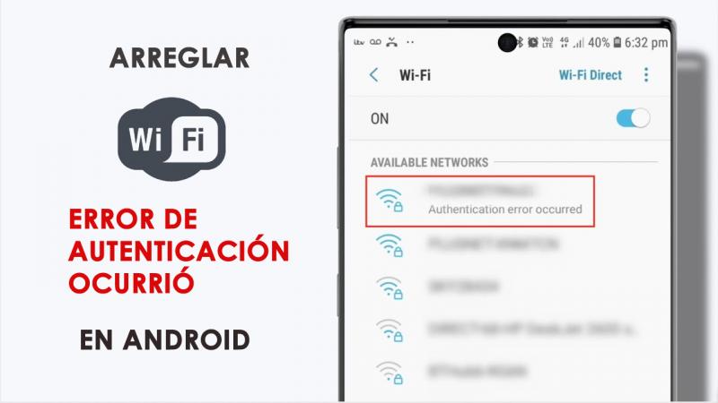 Error de autenticacion WiFi