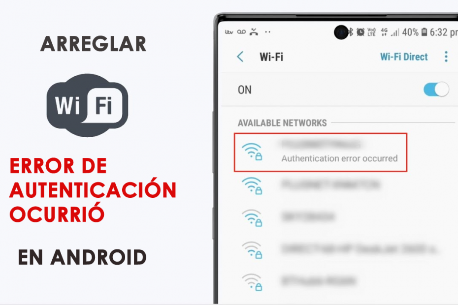 Error de autenticacion WiFi