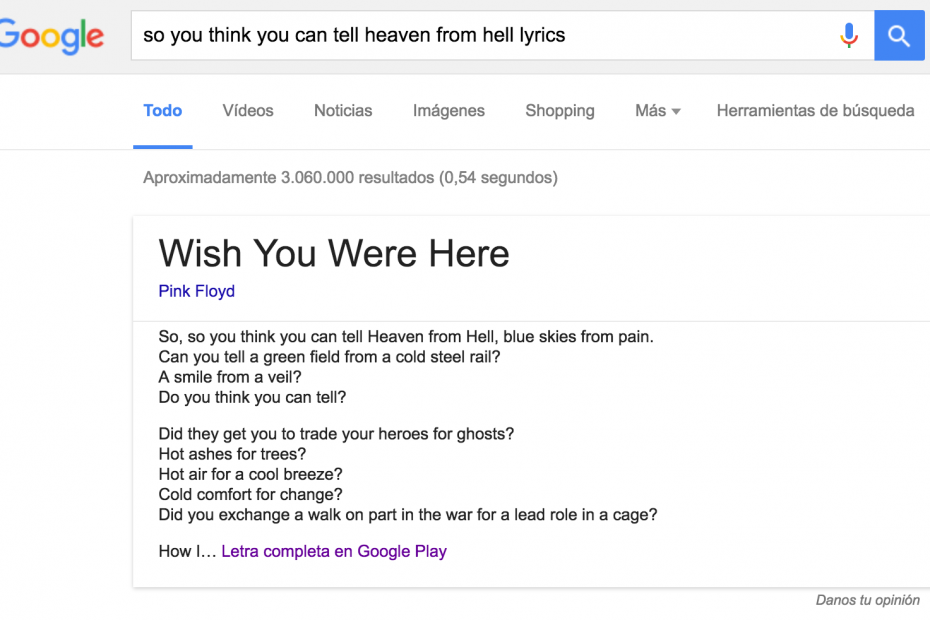 buscar letra cancion google