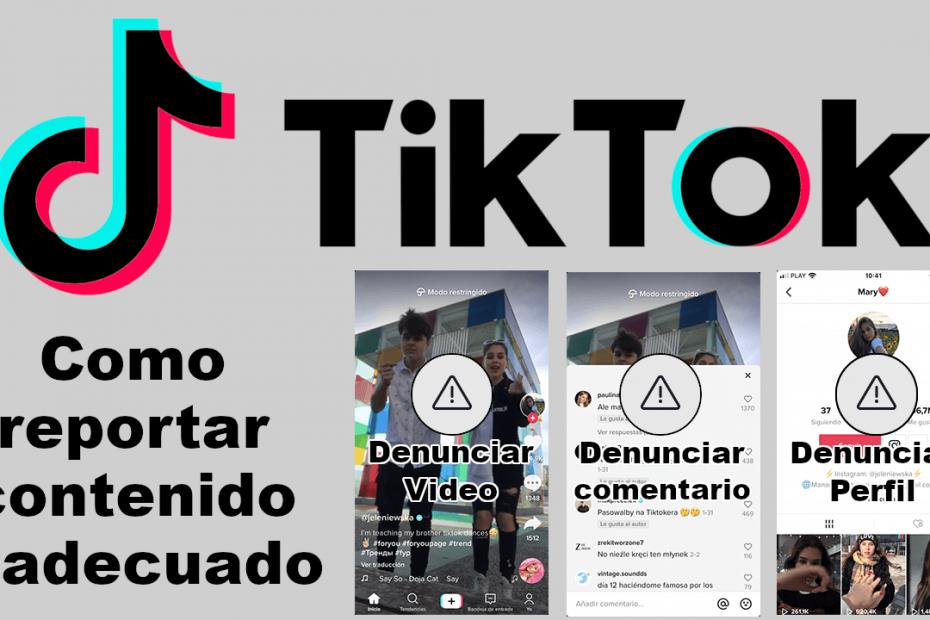reportar videos perfiles y comentarios en TikTok